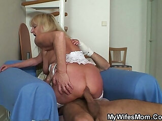 6:06 - Bigcocked guy fucks blonde granny inlaw -
