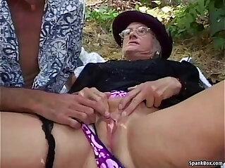8:29 - Granny face fucked real hard outdoor -