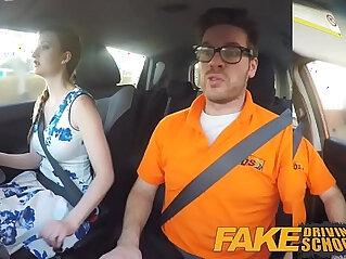 11:35 - Fake Driving School pink nipples big tits redhead girl facial -