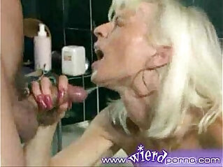 mature blonde fist