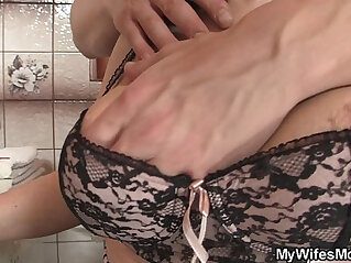 7:16 - Girlfriends hot mom inlaw takes it from behind -