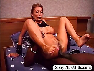 8:18 - Horny GILF Rose fucked by big black dick -