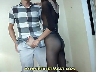 10:15 - Rising Business Executive In See Through Body Stockings -