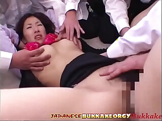 15:37 - Japanese Teacher degraded and Cum covered by her Students in Class -