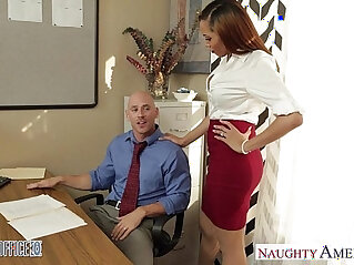 8:18 - Stockinged babe Serena Ali fuck in the office -