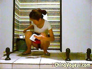 1:30 - Toilet voyeur pissing changing sniffing pad period -