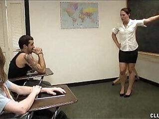 4:56 - Punishment Handjob In The Classroom -