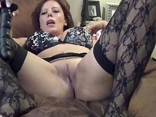 9:09 - Nicky ferrari hot milf on black stockings -