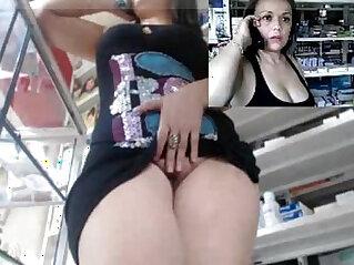 39:02 - Horny brunette slut horny milf working and masturbating at the pharmacy -