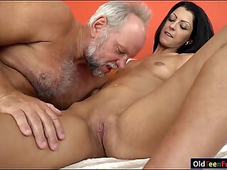 6:06 - Vivien Bell eager to suck old cock so its hard for her pussy -
