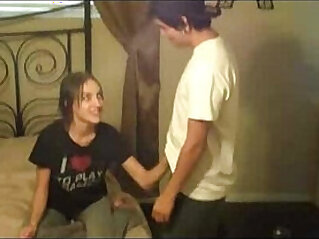 11:06 - Sisters give brother a handjob to keep him quiet -