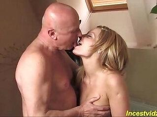 19:07 - Grandpa banged cute Granddaughter on sofa -
