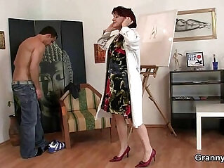 6:52 - Horny lady jumps on hot cock -