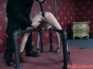 6:26 - Restrained bdsm submissive asshole toyed -