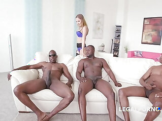 2:33 - Black Buster, Mike Chapman CO take care of Lexy Star for hard doggy style anal fucking and DP -