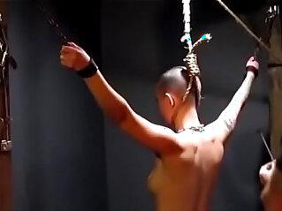 3:31 - Owned slave gets her neck branded by her master -