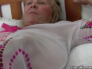 17:10 - British granny Isabel has big tits and a fuckable fanny -