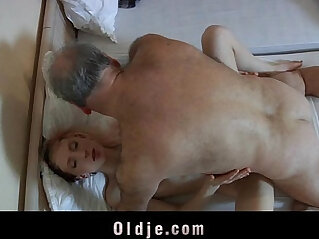 7:42 - Old pervert man fucked by a horny maid -