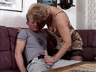 6:16 - Horny granny in stockings sucking -