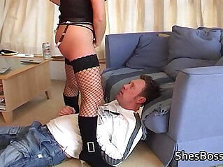 14:10 - Landlord is made to lick pussy -