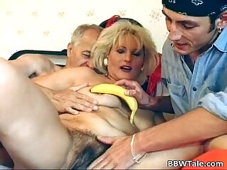 18:18 - Old milf having steamy sex with two -