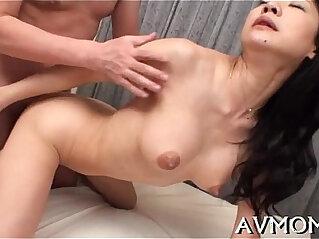 5:25 - Sexy oriental mom strip tease -