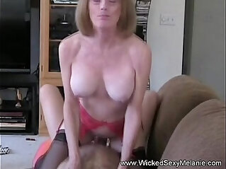 12:27 - Son puts creampie inside mommy -