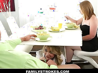 8:20 - Daddy fucks daughter when mommy leaves -