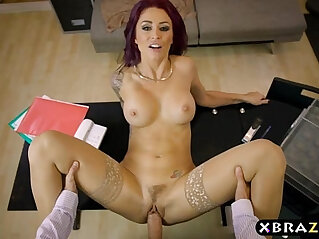 7:42 - Emo employee works her big cock of boss so she can keep her job -