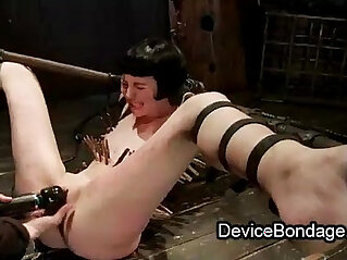 5:35 - Strapped zippered babe toys pussy finger fucked and vibed -