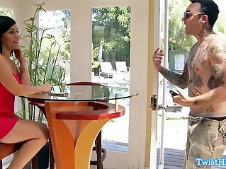 8:04 - Facialized babe cheats by getting fucked -