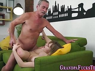 6:19 - Teen spermed by old man -