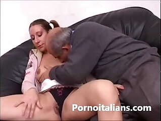 8:48 - Italian girl gets pussy licked by dirty old man Italiana leccata INCESTO -