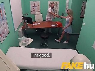 11:55 - Fake Hospital Fast fucking gives blonde big tits Brit multiple orgasms -