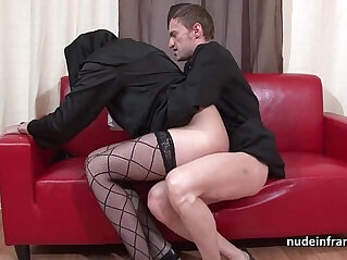 34:32 - Pretty young french nun deep style anal fisted and cum in mouth by the priest -