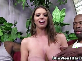 13:24 - Big tit brunette brooklyn chase gets fucked and creampied by black cocks -