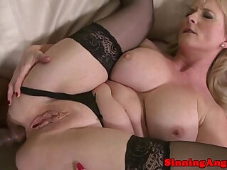 5:56 - Mature blonde assfucked by black meat -