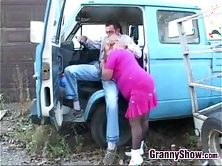 16:47 - Fat Granny In Pink Fucking Outdoors -