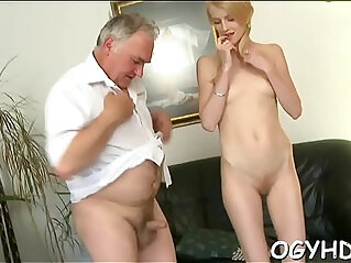 5:53 - Young active hotty blows old ramrod -