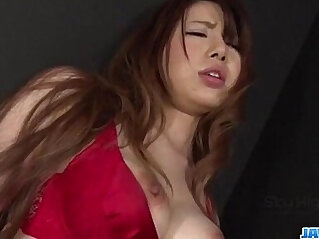 13:20 - Reika Ichinose lingerie babe deals tasty dick on cam -