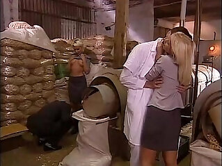 14:21 - Sexual orgy in a factory with blonde sluts -