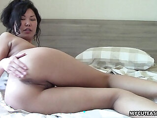 8:59 - Super sweet and hot Asian shows off her body -