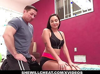 9:57 - SheWillCheat Cheating GF Karlee Grey Fucks Personal Trainer -