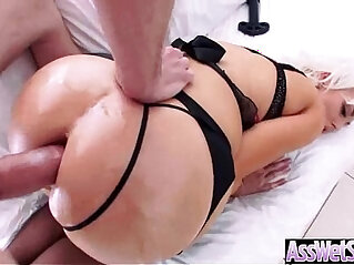 5:14 - Big Oiled Wet Butt naughty Girl Get Nailed Deep In Her Ass clip -