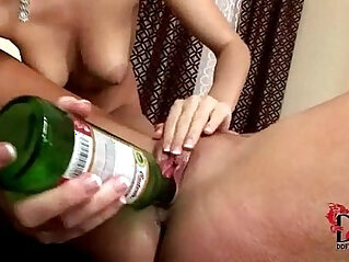 5:55 - Eufrat and Jana use beer bottles to pleasure each other -