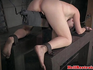 6:01 - Pussyclamped submissive disciplined -