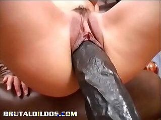 7:47 - Slim brunette Demia gapes her pussy with brutal dildo -
