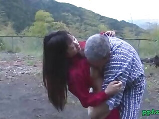 9:24 - Asian Girl loves Getting Her Pussy Licked And Fucked By Old Man Cum To Ass Outdoor -