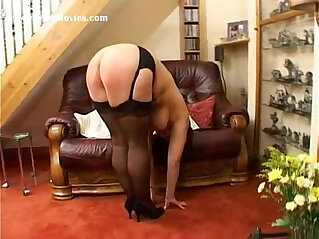 8:31 - Hard spanking punishment for fat milf with tits -