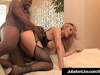 10:16 - Milf julia ann anal pounded and cummed on by big black cocks -